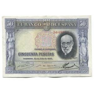 Spain 50 Pesetas 1935