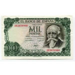 Spain 1000 Pesetas 1971