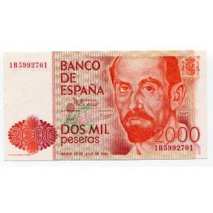 Spain 2000 Pesetas 1980