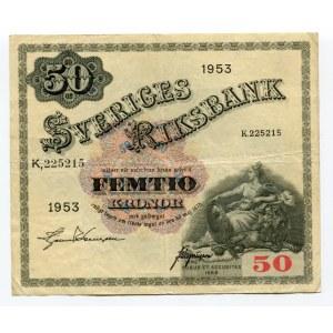 Sweden 50 Kronor 1953