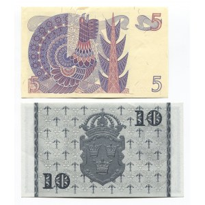Sweden 5 & 10 Kronor 1953 - 1978