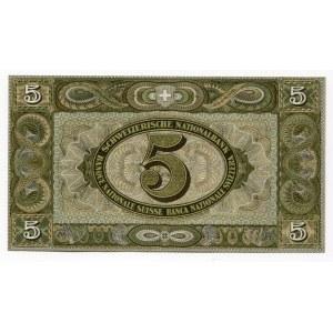 Switzerland 5 Franken 1944