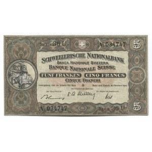 Switzerland 5 Franken 1947