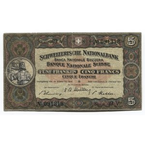 Switzerland 5 Franken 1951