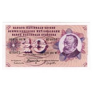 Switzerland 10 Franken 1977