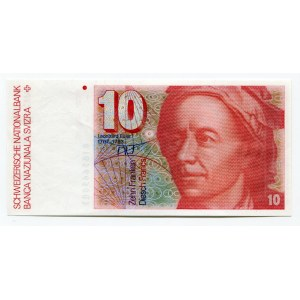 Switzerland 10 Franken 1981