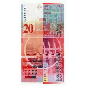 Switzerland 20 Franken 1994