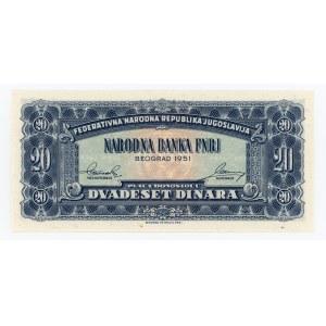 Yugoslavia 20 Dinara 1951