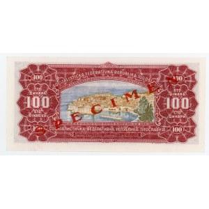 Yugoslavia 100 Dinara 1963