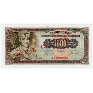 Yugoslavia 1000 Dinara 1963