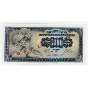 Yugoslavia 5000 Dinara 1963
