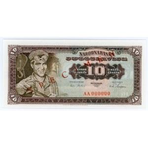 Yugoslavia 10 Dinara 1965