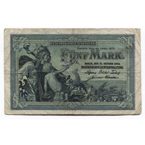 Germany - Empire 5 Mark 1904 Imperial Treasury Note
