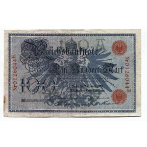 Germany - Empire 100 Mark 1908 Imperial Banknote