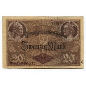 Germany - Empire 20 Mark 1914 Darlehnskassenschein