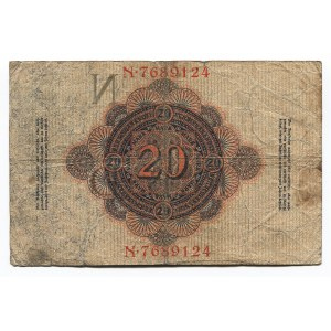 Germany - Empire 20 Mark 1914 Imperial Banknote