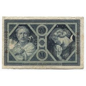 Germany - Empire 20 Mark 1915 Reichsbanknote