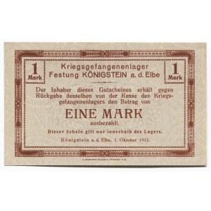 Germany - Empire 1 Mark 1915 Koenigstein POW Camp