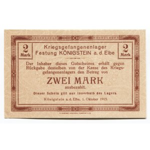 Germany - Empire 2 Mark 1915 Koenigstein POW Camp