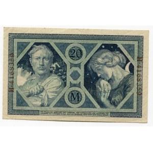 Germany - Empire 20 Mark 1915