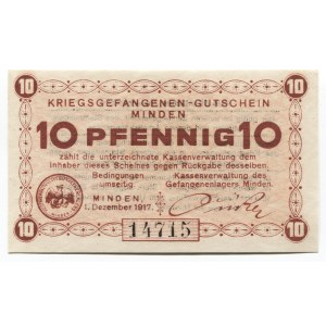 Germany - Empire 10 Pfennig 1917 Minden POW Camp
