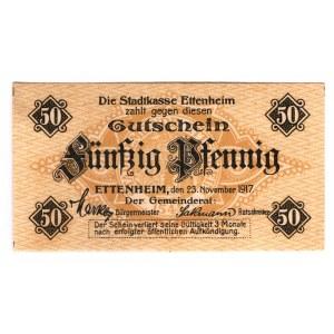 Germany - Empire Ettenheim 50 Pfennig 1917
