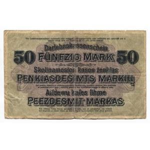 Germany - Empire Kowno 50 Mark 1918 Darlehnskasse Ost