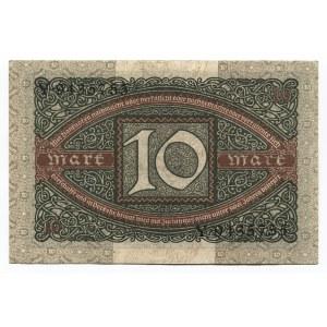 Germany - Weimar Republic 10 Mark 1920 Reichsbanknote