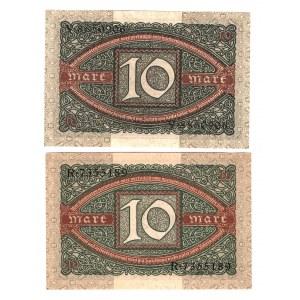 Germany - Weimar Republic 10 Mark 1920 2 Pieces