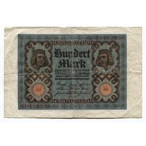 Germany - Weimar Republic 100 Mark 1920 Reichsbanknote