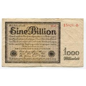 Germany - Weimar Republic 1 Billion Mark 1923