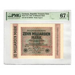 Germany - Weimar Republic 10 Milliard Mark 1923 PMG 67 EPQ