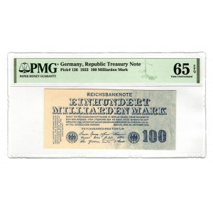 Germany - Weimar Republic 100 Milliard Mark 1923 PMG 65 EPQ