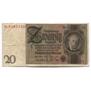 Germany - Weimar Republic 20 Mark 1929 Reichsbanknote