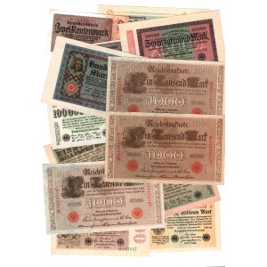 Germany - Third Reich 13 Different Banknotes 1910 - 1937