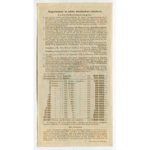 Germany - Third Reich Lottery Ticket 1 Reichsmark 1933