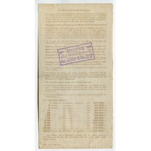 Germany - Third Reich Lottery Ticket 1 Reichsmark 1935