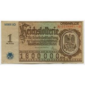 Germany - Third Reich Lottery Ticket 1 Reichsmark 1937