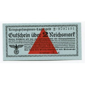Germany - Third Reich 2 Reichsmark 1939 (ND) POW Camp