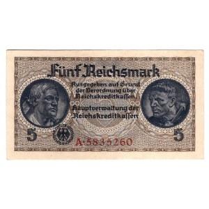 Germany - Third Reich 5 Reichsmark 1940 - 1945