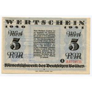 Germany - Third Reich Winterhilfswerk 5 Reichsmark 1941 - 1942 (ND)