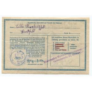 Germany - Third Reich Winterhilfswerk 10 Reichsmark 1941 - 1942 (ND)