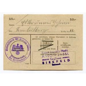 Germany - Third Reich Winterhilfswerk 10 Reichsmark 1943 - 1944 (ND)