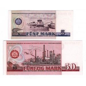 Germany - DDR 5 - 50 Mark 1971 - 1975