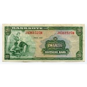 Germany - FRG 20 Deutsche Mark 1948