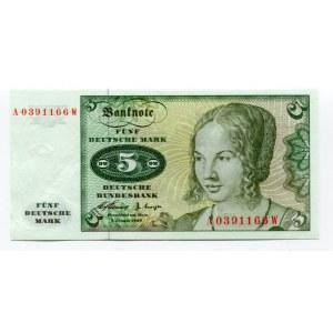 Germany - FRG 5 Deutsche Mark 1960
