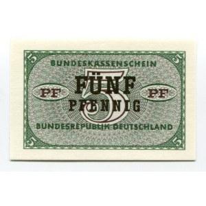 Germany - FRG 5 Pfennig 1967 (ND) Bundeskassenschein