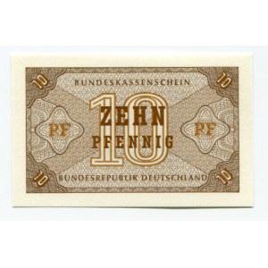 Germany - FRG 10 Pfennig 1967 (ND) Bundeskassenschein