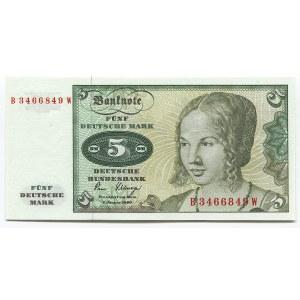Germany - FRG 5 Deutsche Mark 1980