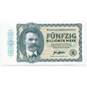 Germany - FRG 50 Billionen Mark 2019 Specimen